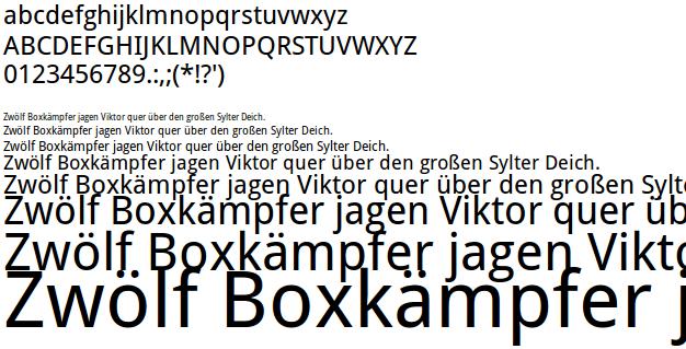 Freie Schrift Droid Sans