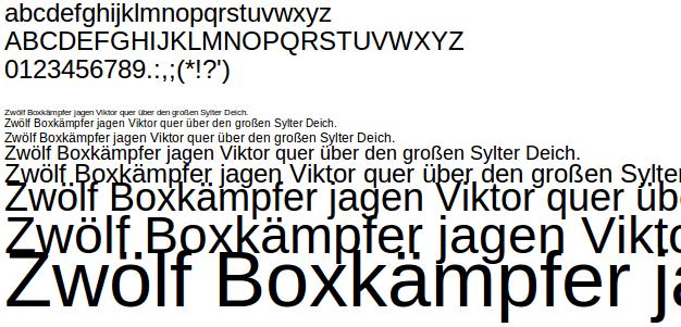 Freie Schrift Liberation Sans