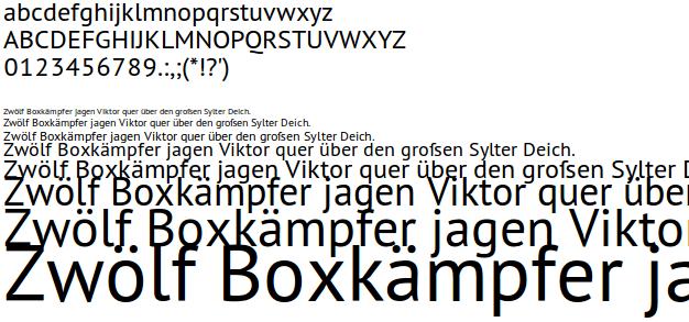 Freie Schrift PT Sans