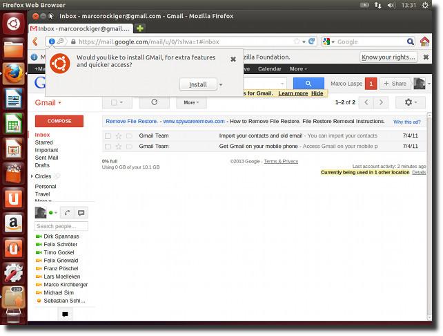 Gmail in Ubuntu aktivieren