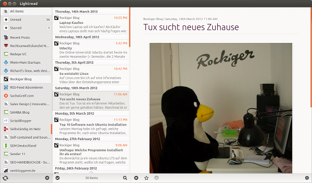 Feed-Reader Ubuntu