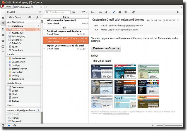 Opera Mail - der Testsieger
