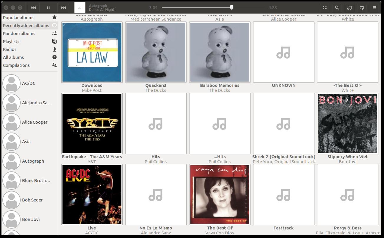 Ubuntu Linux Audioplayer Lollypop