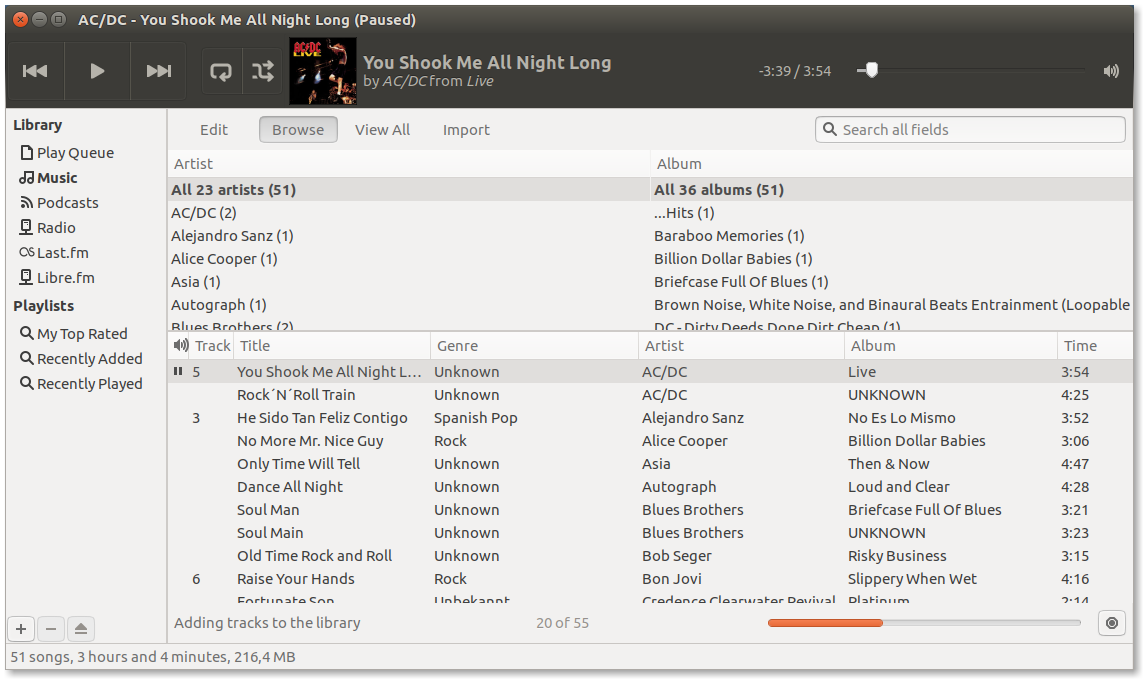 Ubuntu Linux Audioplayer Rhythmbox